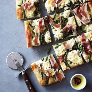 Summer Greens Pizza Kit - Asparagus & Prosciutto + Garden Veg